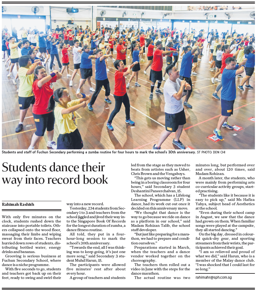 ST Article - FCS Dance Record.png